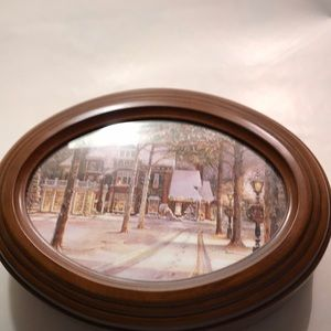Vintage  sank you Oval Wooden music box box